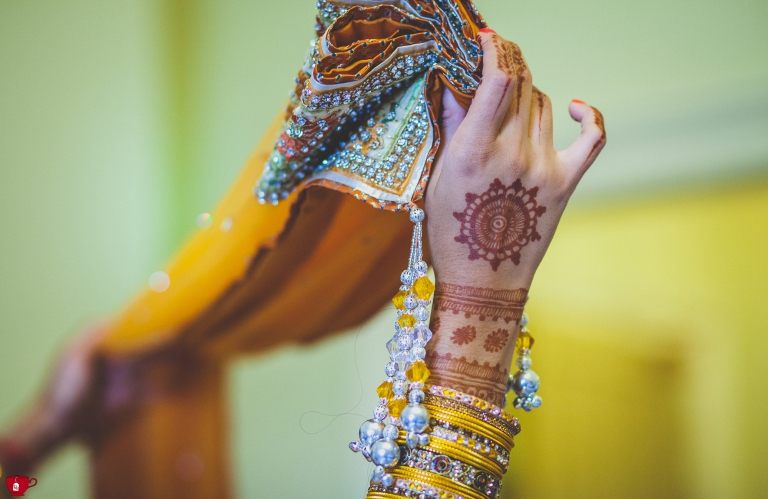Saree and henna