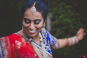 Beautiful Gujarati bride at Offley Place