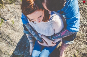 hold me tight tattoo engagement shoot