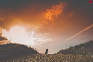 Sunset photograph of couple in liverpool