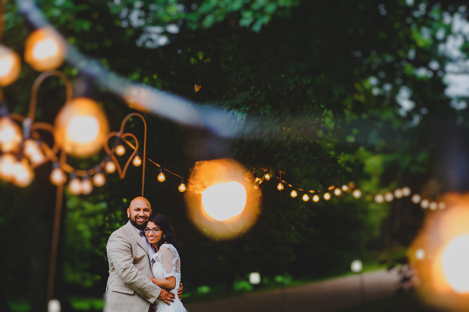 East Riddlesden Festoon Lights Indian Wedding Photographer
