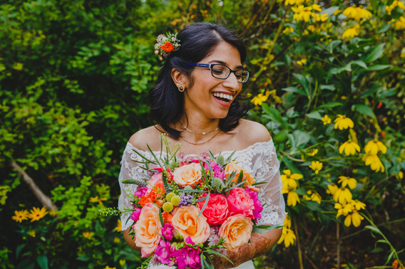 Happy Indian Bride at East Riddlesden