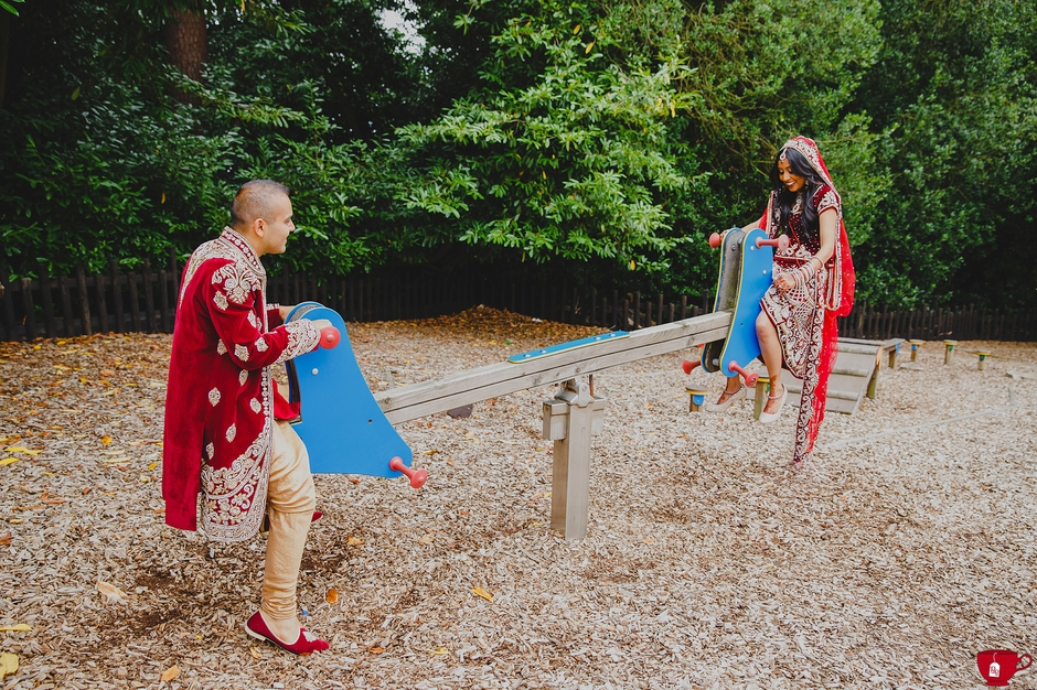 Fun Hindu London Wedding Photographer