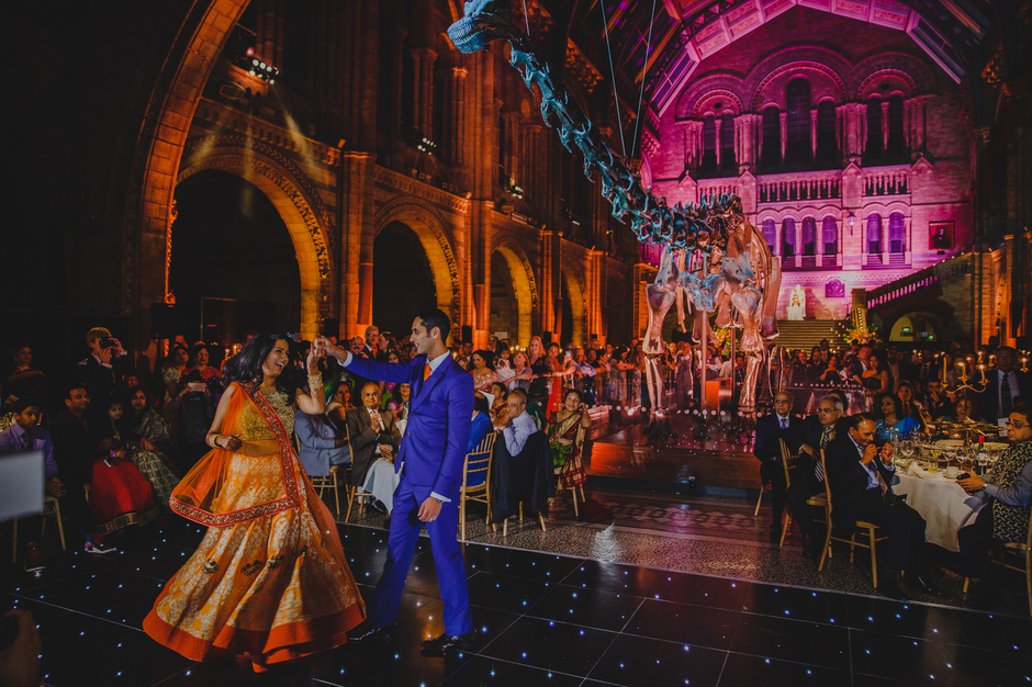 Natural History Museum Indian Wedding Photographer