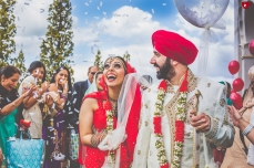 Confetti at Sikh Wedding