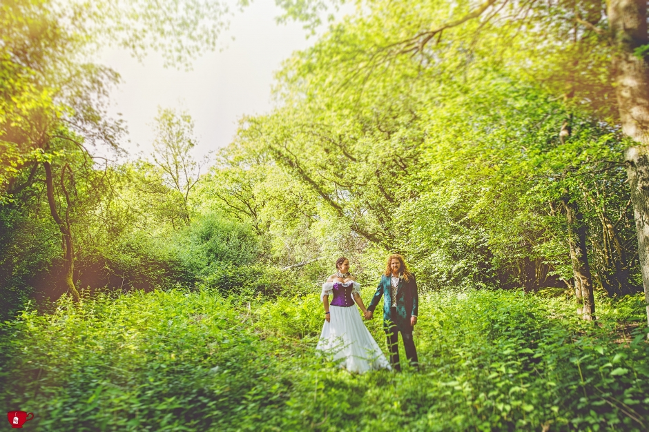 Festival Wedding in Hampshire Woodland