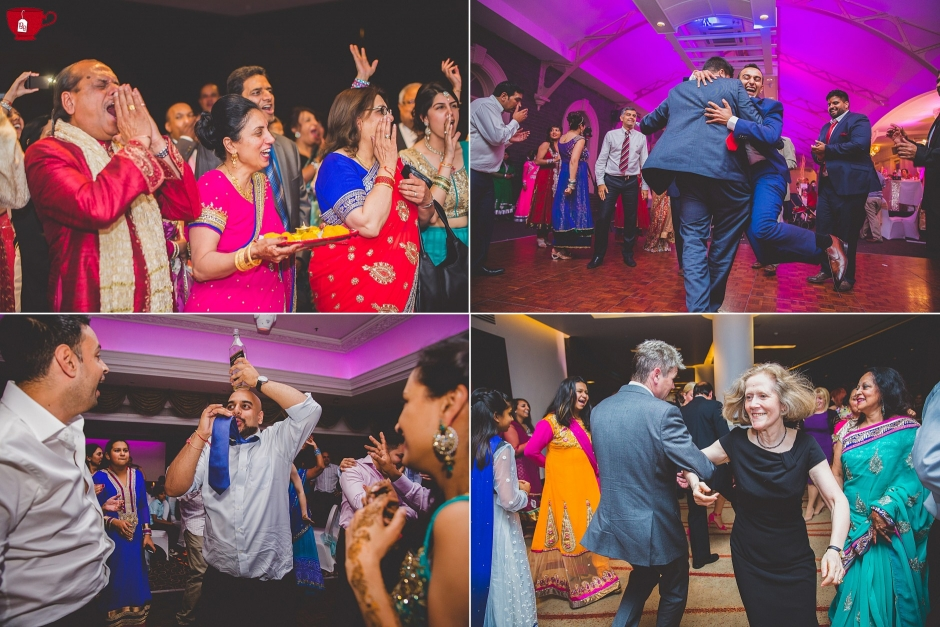 People dancing and having a good time a hindu wedding
