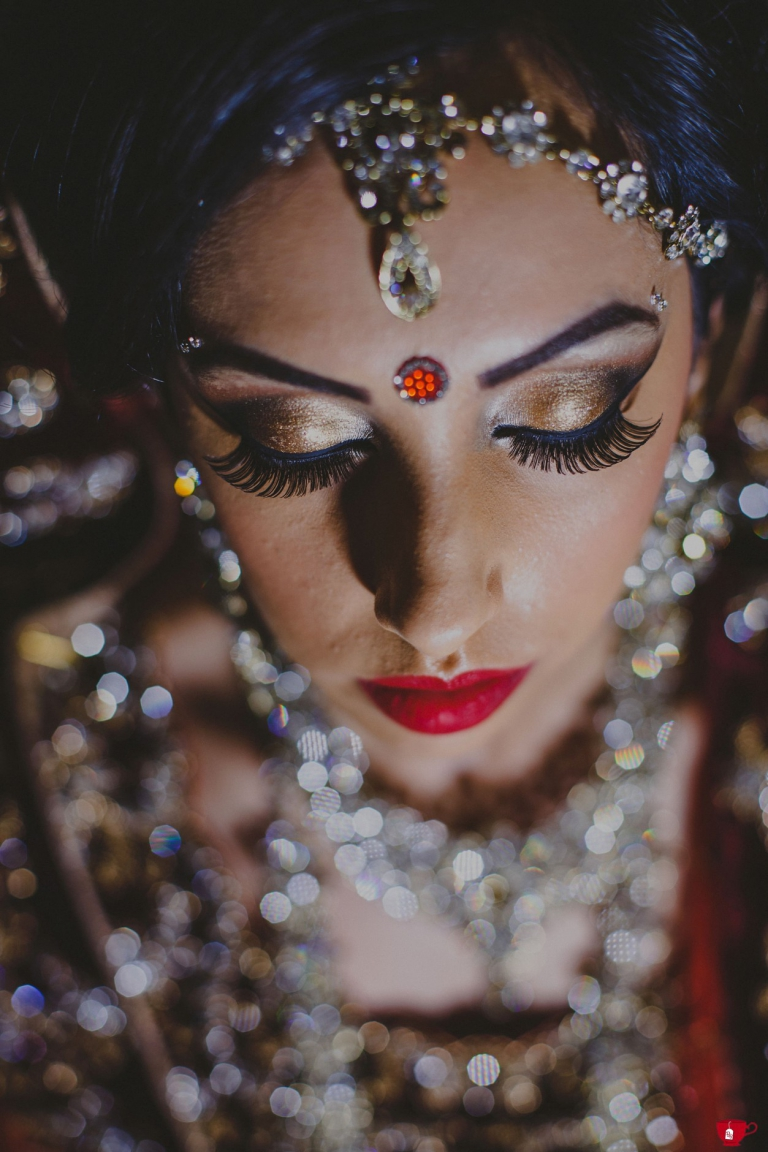 Bride in sparkly jewels