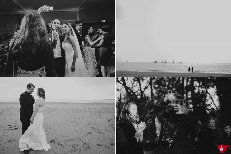 Black and white images of couples