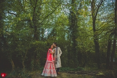 Indian and French Fusion Woodland Wedding London