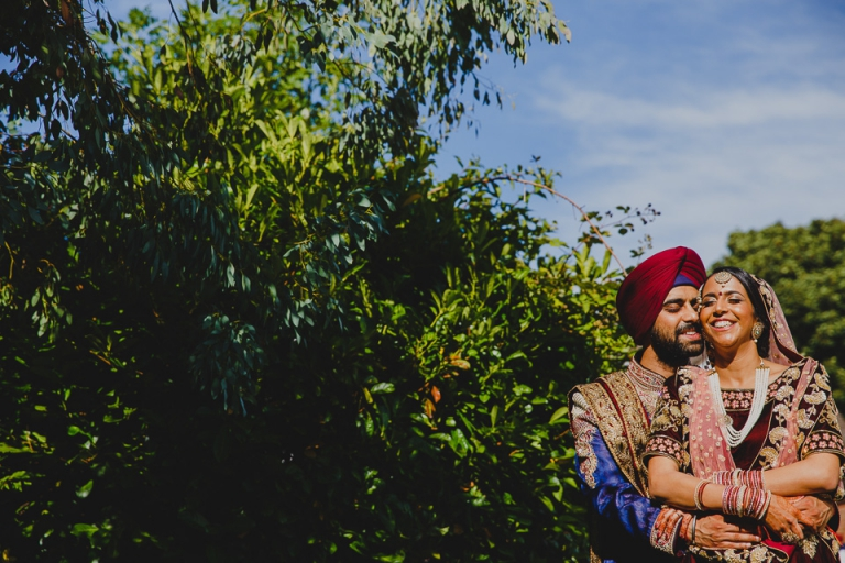 Sikh Wedding Bride and Sikh Groom at Kettering