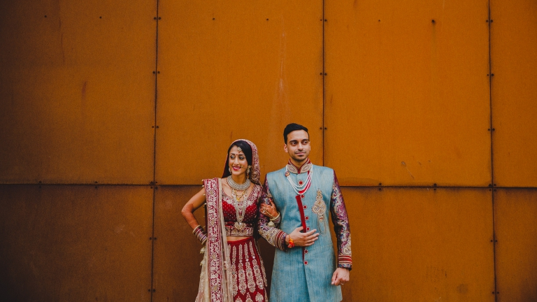 Indian Bride and Groom at Titanic Hotel Liverpool