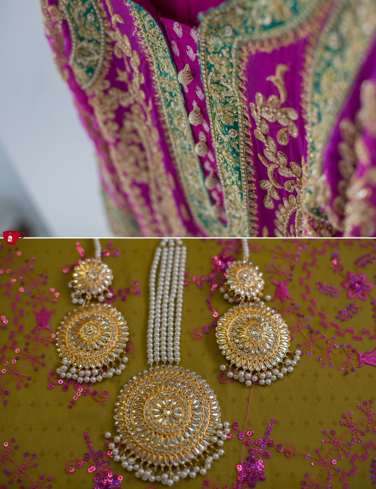 Mehndi Outfit and jewellery